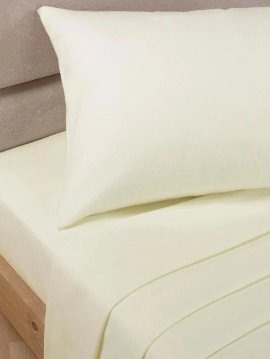 Percale Luxury Extra Deep Fitted Sheet Ivory