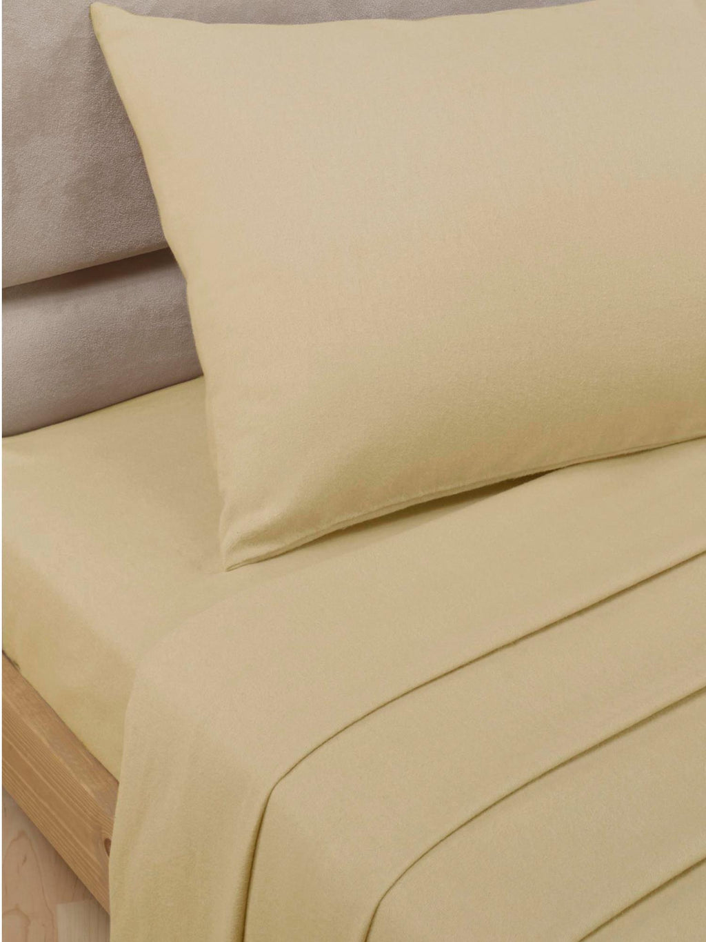 Percale Luxury Extra Deep Fitted Sheet Biscuit