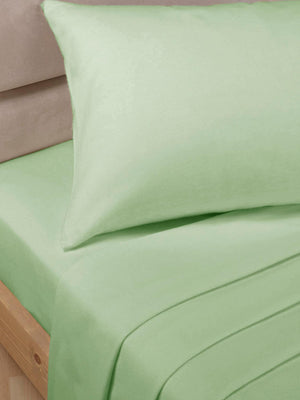 Percale Luxury Extra Deep Fitted Sheet Soft Green