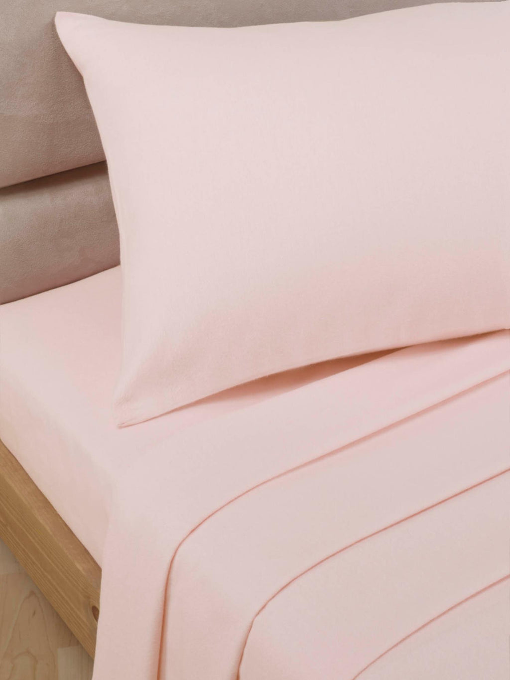 Percale Luxury Extra Deep Fitted Sheet Soft Pink