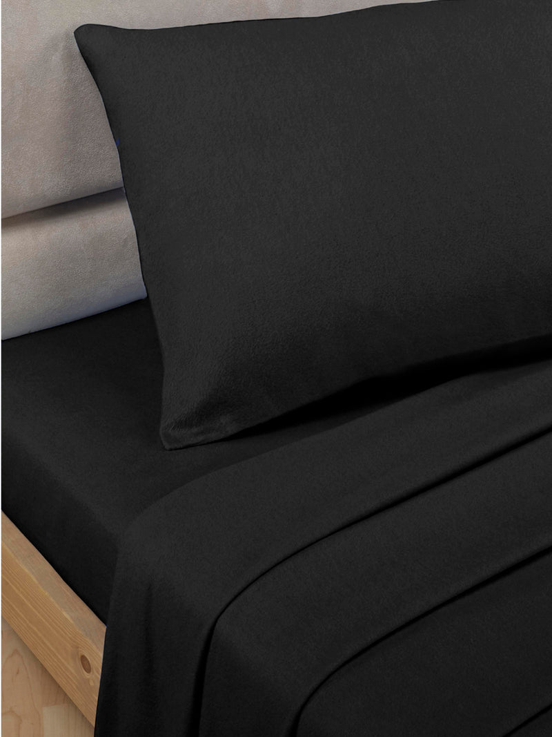 Percale Luxury Extra Deep Fitted Sheet Black