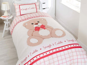 Snuggle & Cuddle Childrens Bedding Set Red