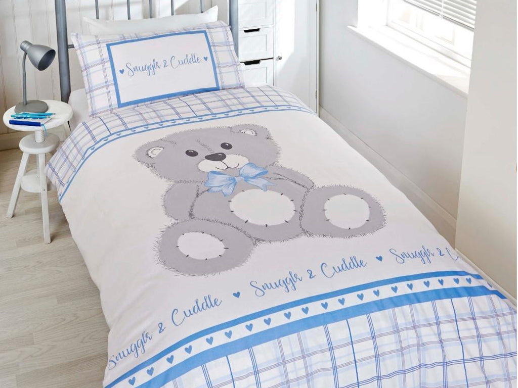 Snuggle & Cuddle Childrens Bedding Set Blue