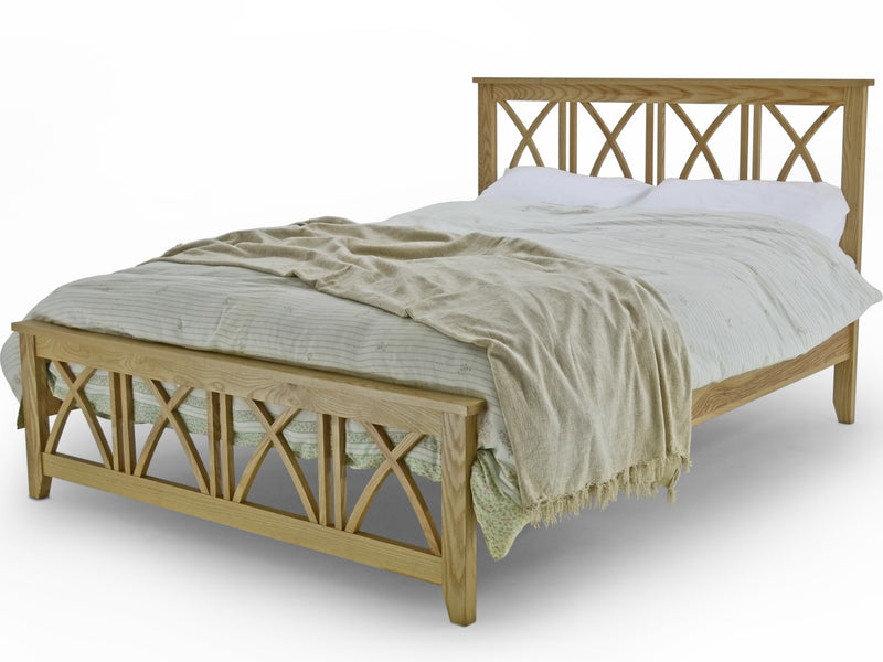 Asha Luxury Bed Frame in Solid Oak