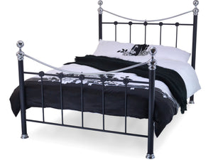Camara Luxury Metal Bed Frame in Black