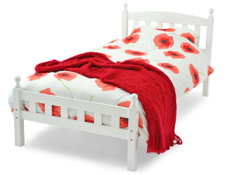Florida Wooden Bed Frame in White
