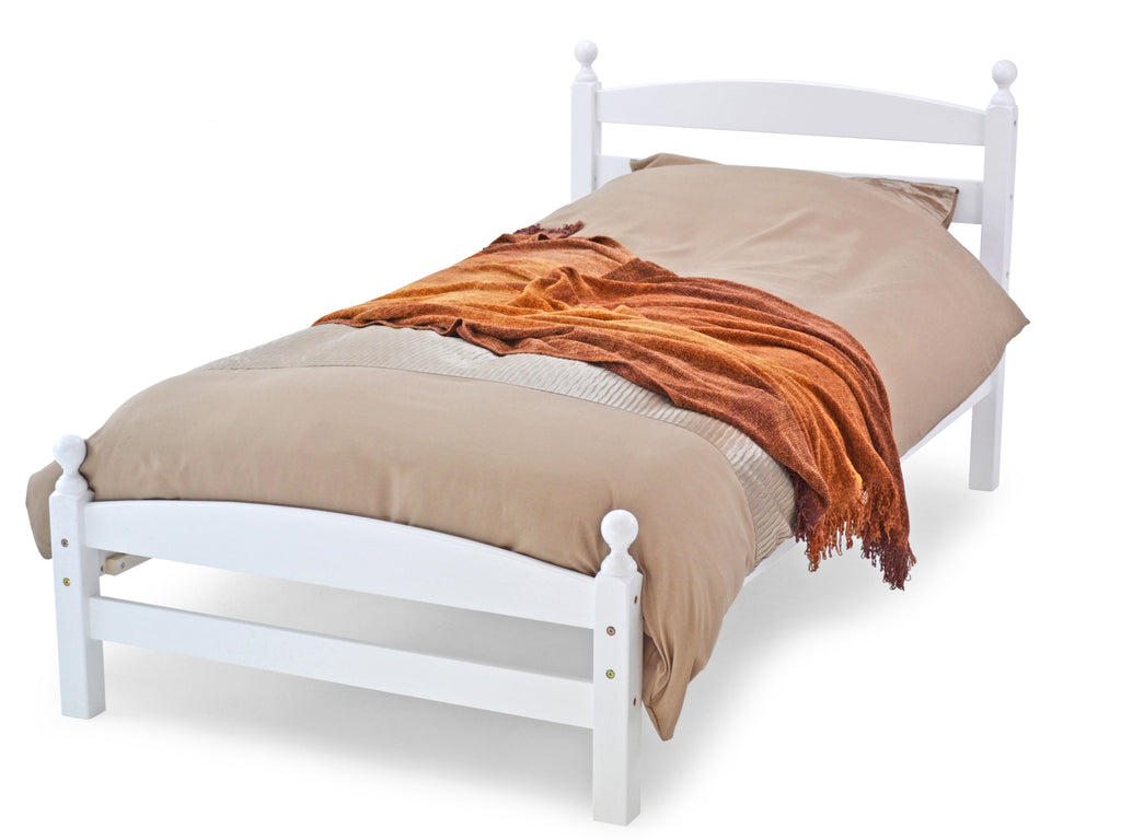 Modella Wooden Bed Frame in White