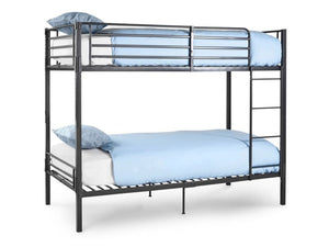 Bunkit Split Metal Bunk Bed in Grey