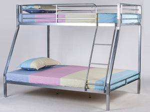 Bunkit Triple Metal Bunk Bed in Silver