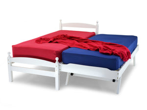 Palma Wooden Bed Frame with Guest Bed in White