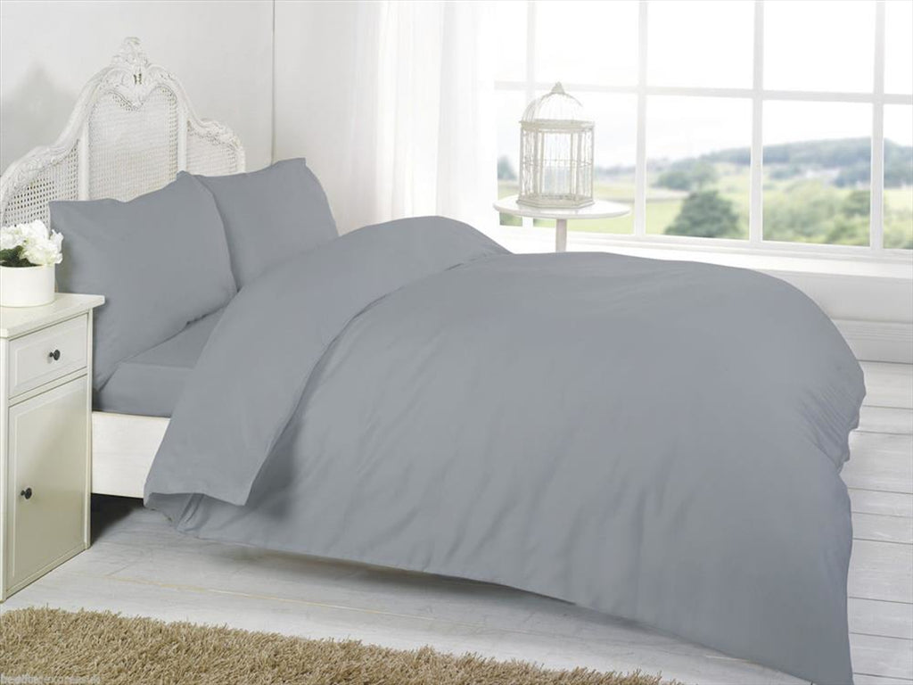 Percale Luxury Bedding Set Grey