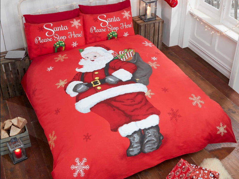 Santa Please Stop Here Bedding Set