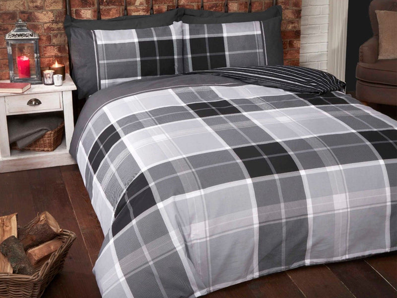 Argyle Bedding Set Grey