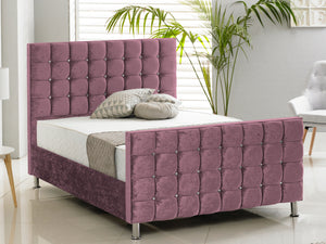 Kensington Luxury Bed Frame in Crushed Aubergine
