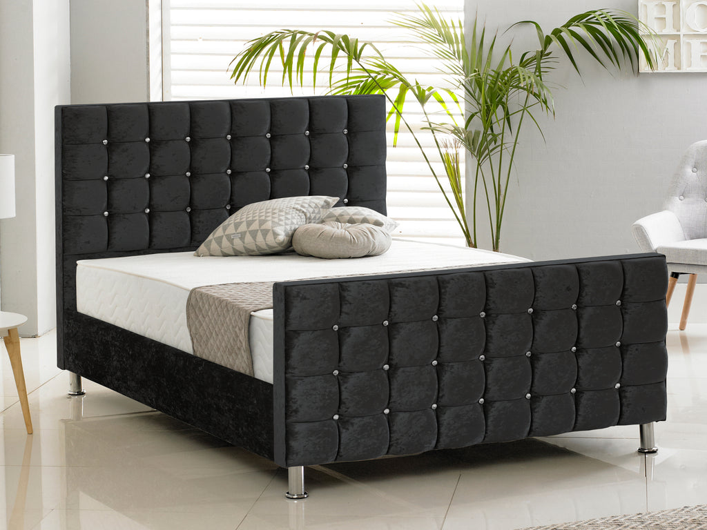 Kensington Luxury Bed Frame in Crushed Black