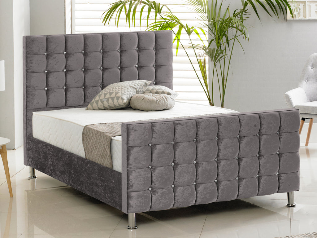 Kensington Luxury Bed Frame in Crushed Charcoal