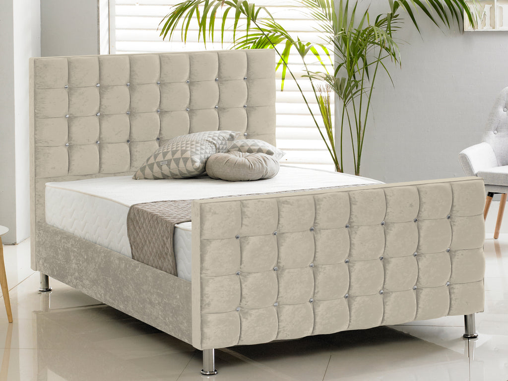 Kensington Luxury Bed Frame in Crushed Cream
