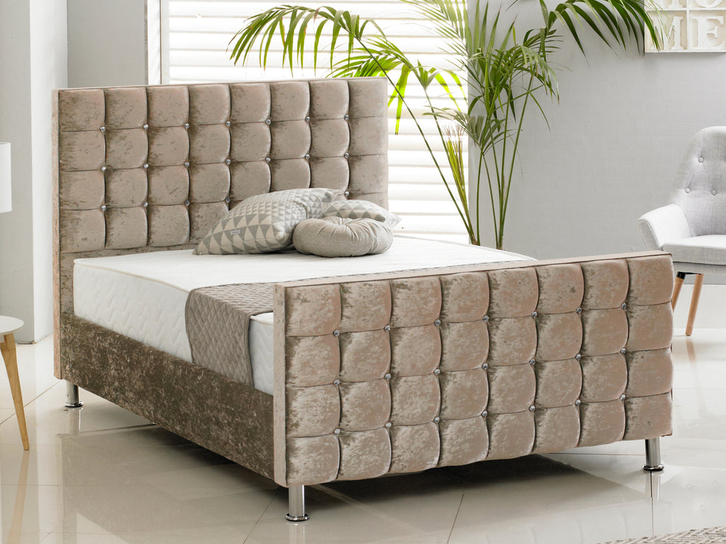 Kensington Luxury Bed Frame in Crushed Mink