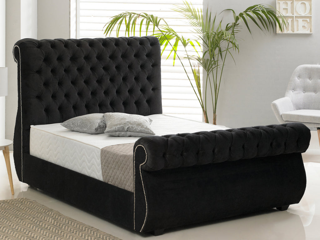 Chiswick Luxury Bed Frame in Hercules Black
