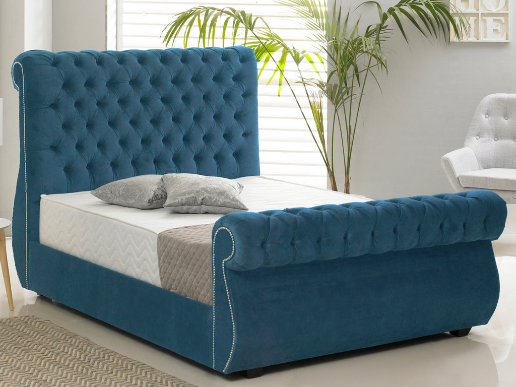 Chiswick Luxury Bed Frame in Hercules Blue