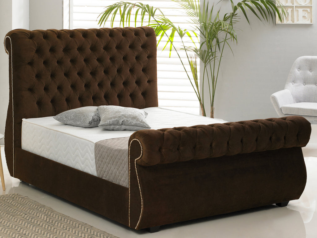 Chiswick Luxury Bed Frame in Hercules Brown