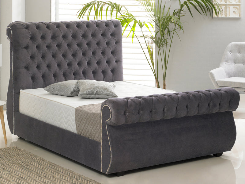 Chiswick Luxury Bed Frame in Hercules Charcoal