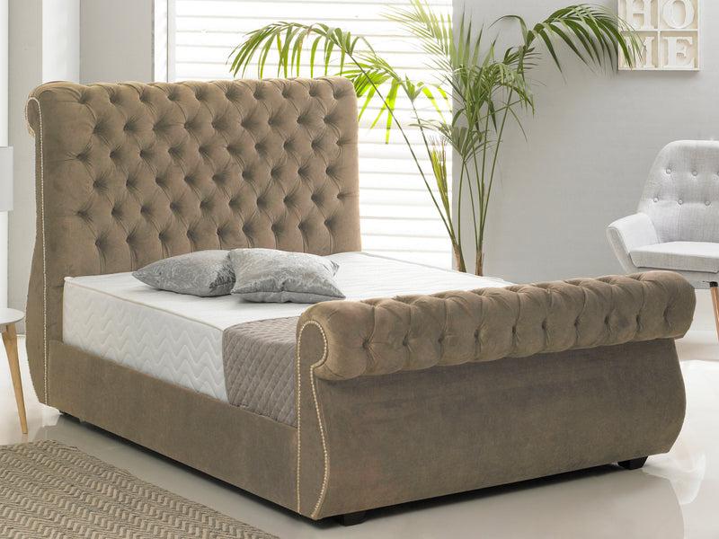 Chiswick Luxury Bed Frame in Hercules Mink
