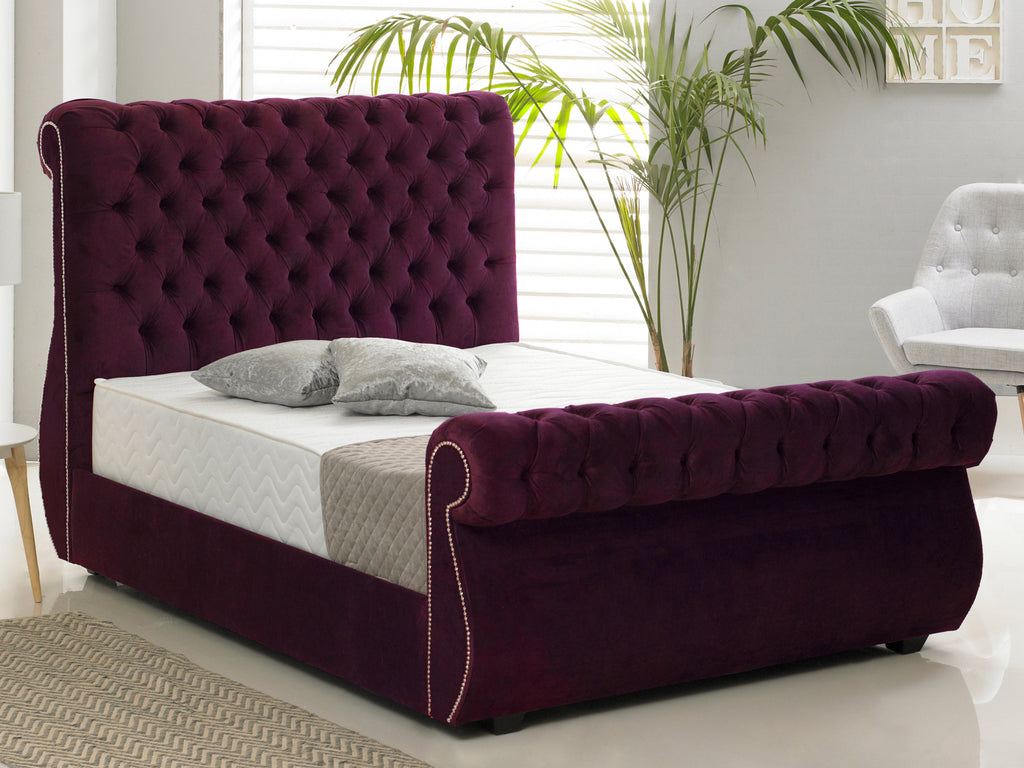 Chiswick Luxury Bed Frame in Hercules Purple