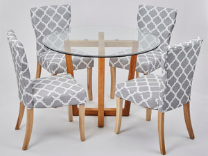 Hugo Patterned Dining Chair (2 Pack)