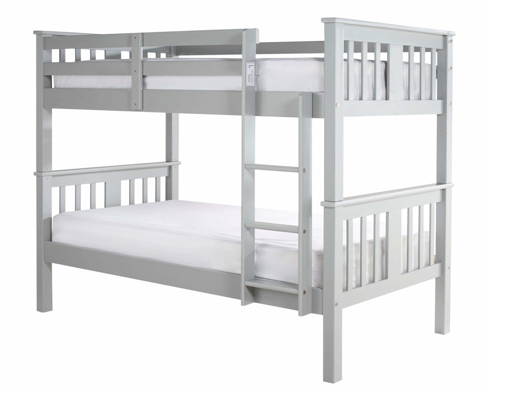 Vernan Wooden Bunk Bed in Grey