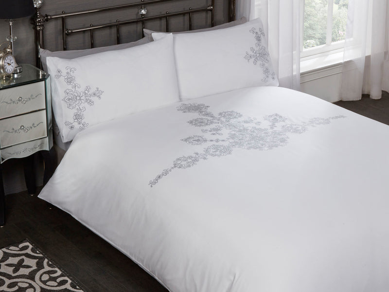 Amelie Luxury Bedding Set White