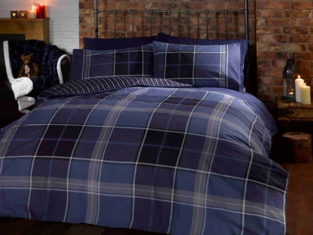 Argyle Bedding Set Blue