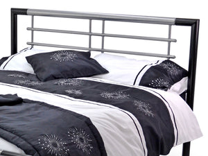 Atlas Luxury Metal Bed Frame in Black and Silver