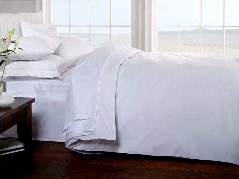 Belle Maison 400tc Egyptian Cotton Duvet Cover & Bed Sheets White