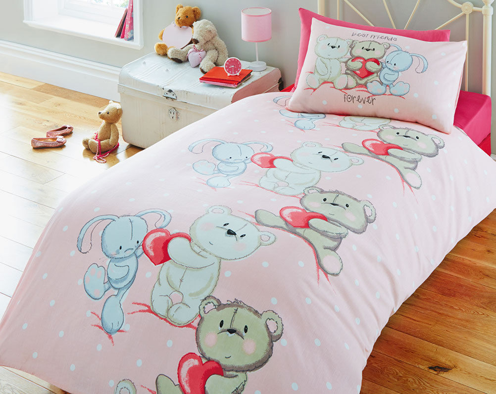 Best Friends Childrens Bedding Set Pink