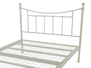 Brighton Luxury Metal Bed Frame in Ivory