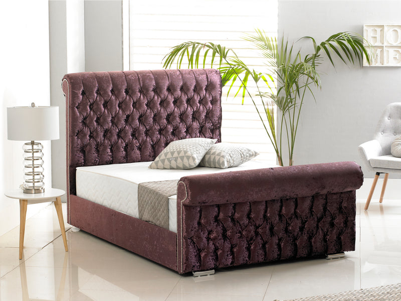 Buckingham Luxury Bed Frame in Crushed Purple