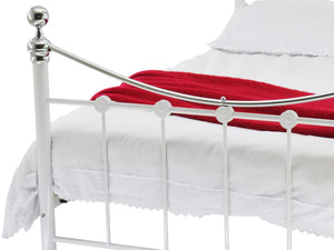 Camara Luxury Metal Bed Frame in White