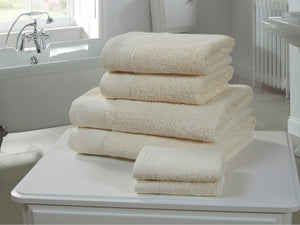 Chatsworth 100% Egyptian Cotton Bathroom Towels 600gsm Cream