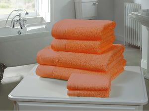 Chatsworth 100% Egyptian Cotton Bathroom Towels 600gsm Tangerine