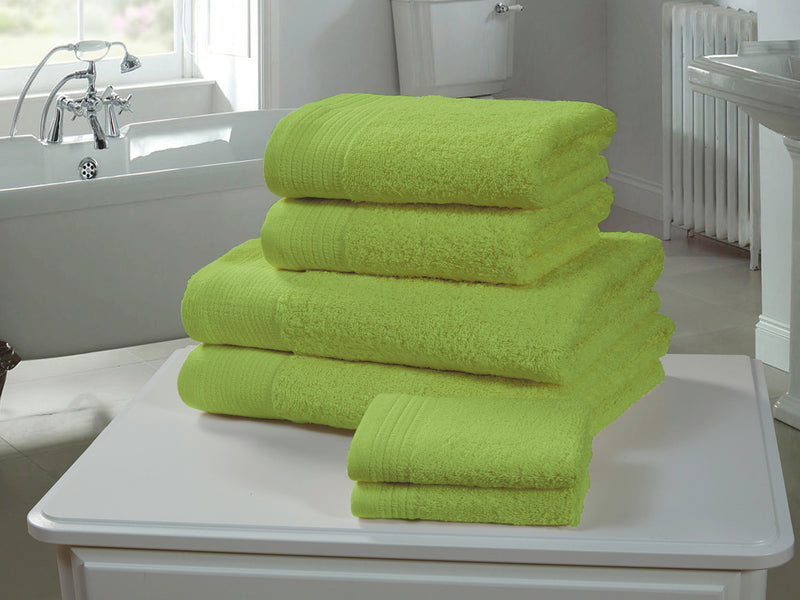 Chatsworth 100% Egyptian Cotton Bathroom Towels 600gsm Lime