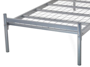 Contract Mesh Metal Bed Frame in Silver