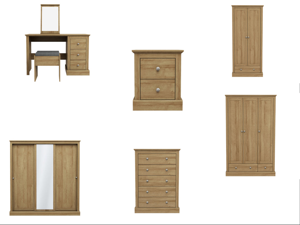 Devon Bedroom Furniture in Oak