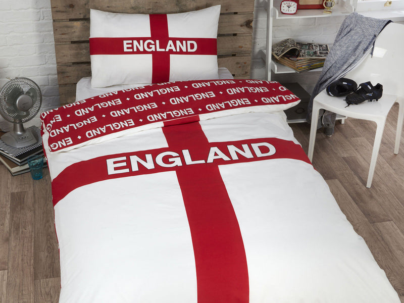 England Football Childrens Bedding Set White