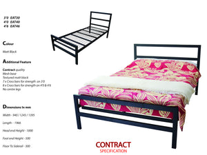 Euxton Mesh Metal Bed Frame in Black