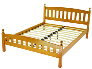 Florida Wooden Bed Frame in Antique Pine