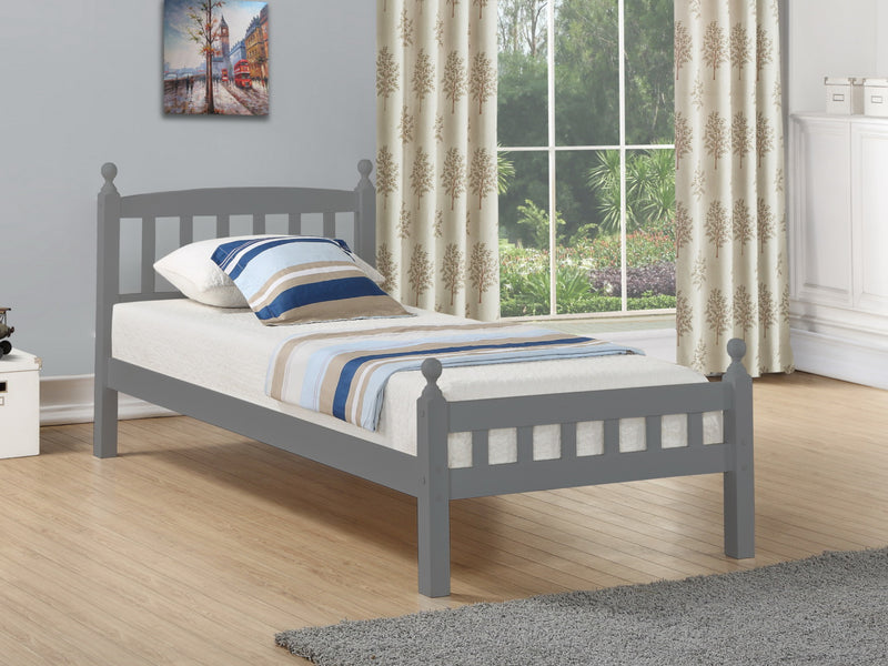 Jenson Wooden Bed Frame in Grey