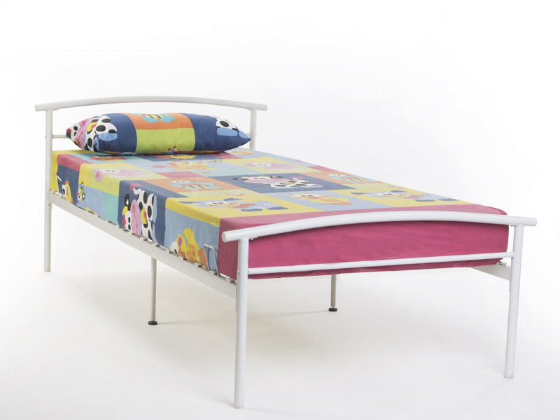 Kie Metal Bed Frame in White