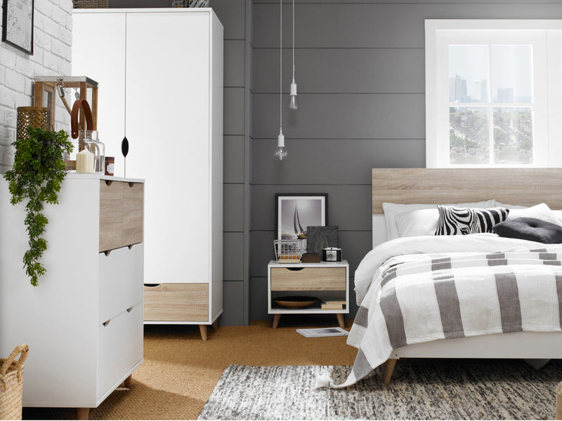 Stockholme Bedroom Furniture in White and Oak