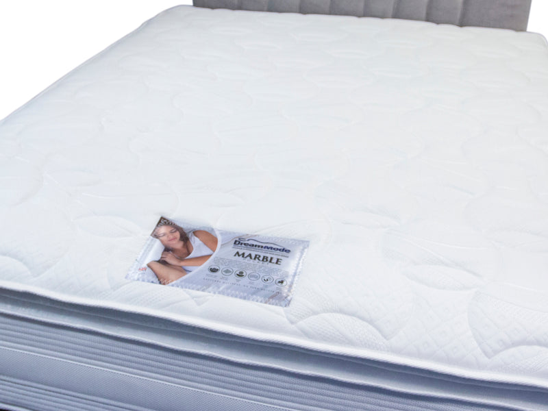 Marble Pocket Mattress with Marble Foam Pillow Top - Medium